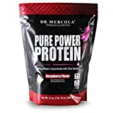Dr. Mercola Pure Power Protein Strawberry – Whey Protein Concentrate With Chia Seeds – Naturally Flavored – Dietary Supplement – 31oz (1 lb. 15 oz) (880g)