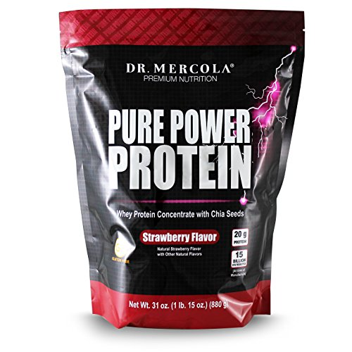 Cheap Dr. Mercola Pure Power Protein Strawberry – Whey Protein Concentrate With Chia Seeds – Naturally Flavored – Dietary Supplement – 31oz (1 lb. 15 oz) (880g)
