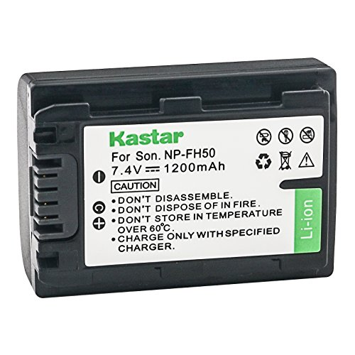 Kastar High Capacity Replacement Camcorder Lithium-Ion Battery for Sony DCR-DVD650 Camcorder and Sony NP-FH30 NP-FH50 NP-FH70 NP-FH100 Batteries -