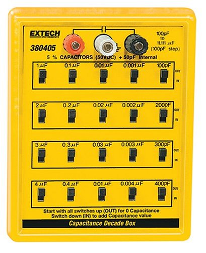 [해외]Extech 380405 커패시턴스 대체 상자/Extech 380405 Capacitance Substitution Box