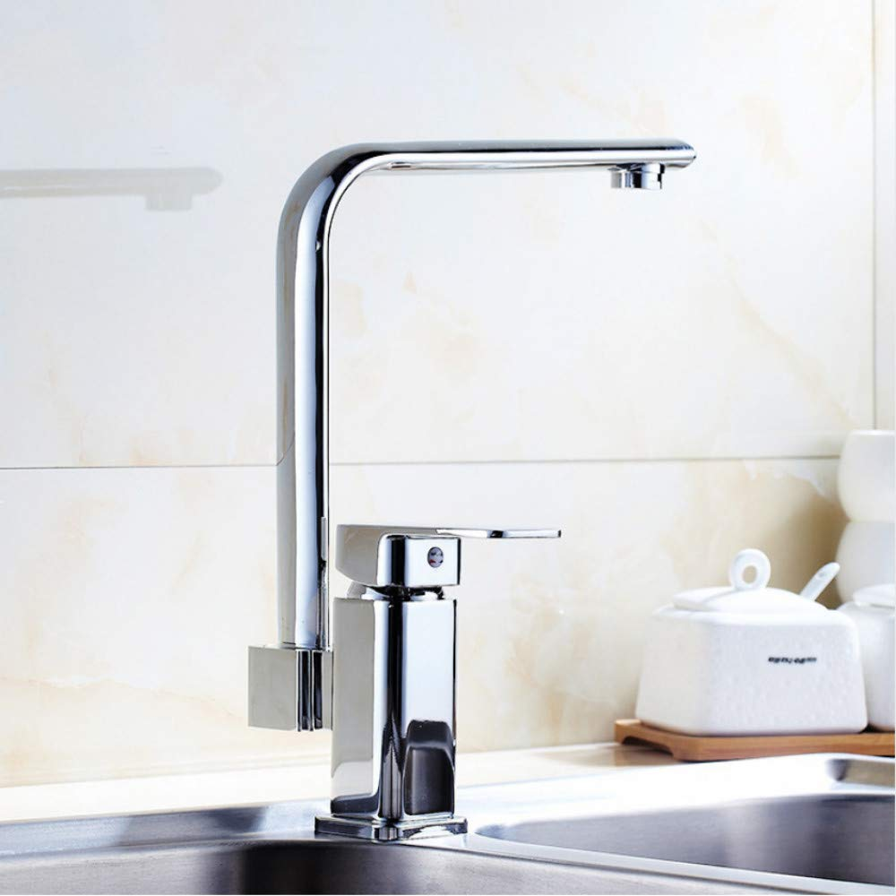 LLLYZZ New Kitchen Sink Faucet Mixer Seven Letter Design 360 Degree redation Water Purification tap Dual Handle European Style