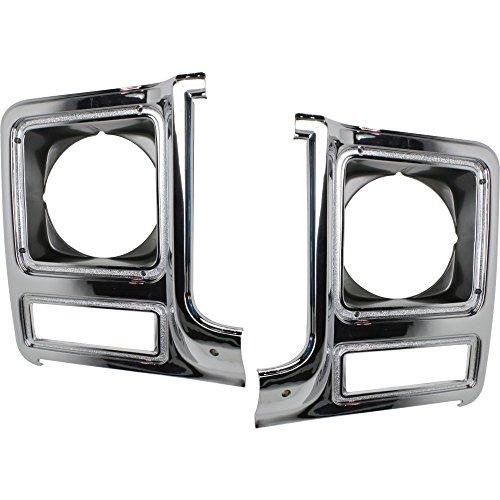 Evan-Fischer EVA18972056866 Headlight Door for Chevrolet C20 79-80 RH and LH With parking light hole