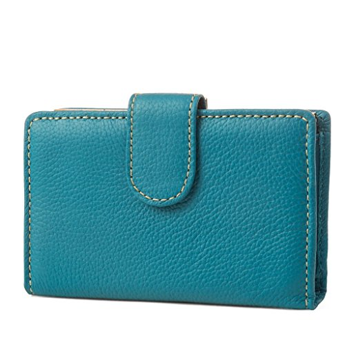 Mundi Rio Womens Leather Frame Index Wallet (Teal) ()