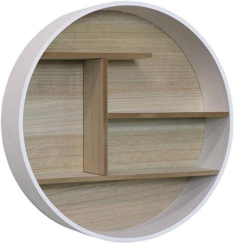 Melody Maison Estantería redonda de madera blanca