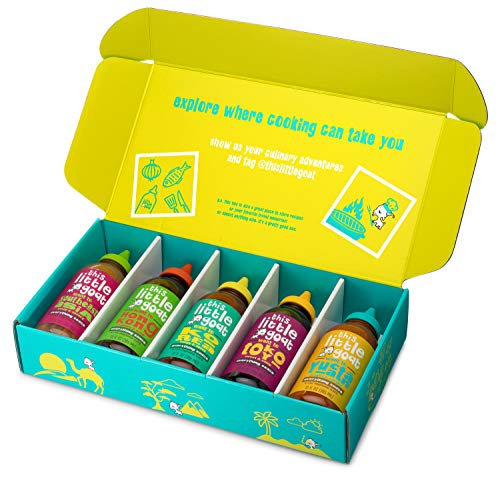 This Little Goat Cooking Set Sauce Kit  5 Count  Marinade Rub and Herb Seasoning Set  Great for BBQ Chicken Meat Fish Gifting  Created by Top Chef Stephanie Izard for Home Kitchens