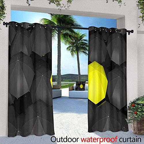 (Outdoor Privacy Curtain for Pergola,Circuit Board Background,W72 x L84 for Patio Light Block Heat Out Water Proof Drape)