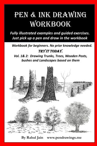 Pen and Ink Drawing Workbook vol 1-2: Pen and Ink Drawing workbooks for absolute beginners (Pen and Ink Workbooks) (Art Pen Ink Drawing)