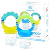 Baby Feeder for Boys 2 Pack, Grab n' Shake Rattle Teething Toy Set |...