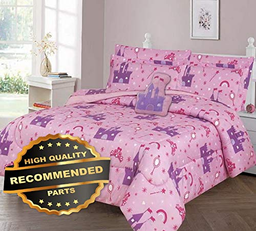 Werrox Happily Ever After Comforter Bed Sheet Set Window Panel Valance for Kids Teens Size | Quilt Style QLTR-291267443
