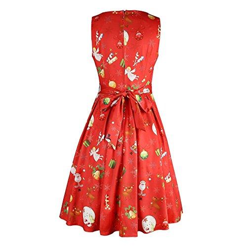 Damen weihnachts kleider in rot