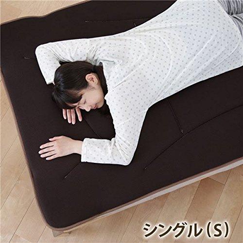 寝心地復活 ふかふか敷きパッド コンフォートプラス シングル 100×200cm 日本製 立体メッシュ(ブラウン) B01KA24E4K