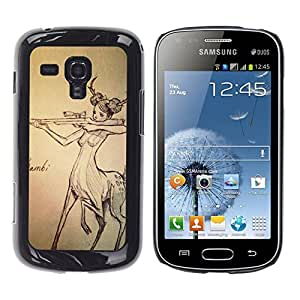 """For Samsung Galaxy S Duos S7562 Case , Centaur Mujer Caza Gun derechos de los animales"""" - Diseño Patrón Teléfono Caso Cubierta Case Bumper Duro Protección Case Cover Funda"""