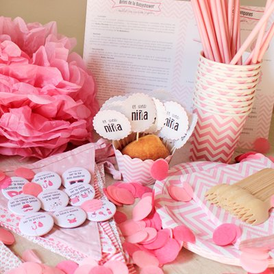 Baby Shower Fiesta Nina Incluye Un Pack Completo Para Menu De 12