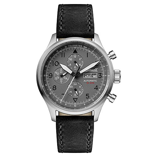 Ingersoll Men's Automatic Stainless Steel and Leather Casual Watch, Color:Black (Model: I01903)