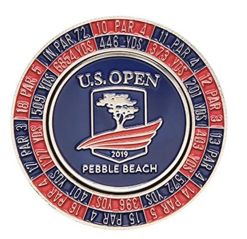Ahead 2019 US Open Mondomark Golf Ball Marker, Pebble Beach USGA w/Hole Yardage Info