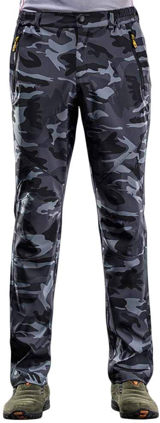 Quge Hombre Mujer Pantalones De Trekking Impermeables ...