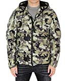 Givenchy Wiberlux Men's pixelated Camo Pattern Hooded Jacket 52 Olive