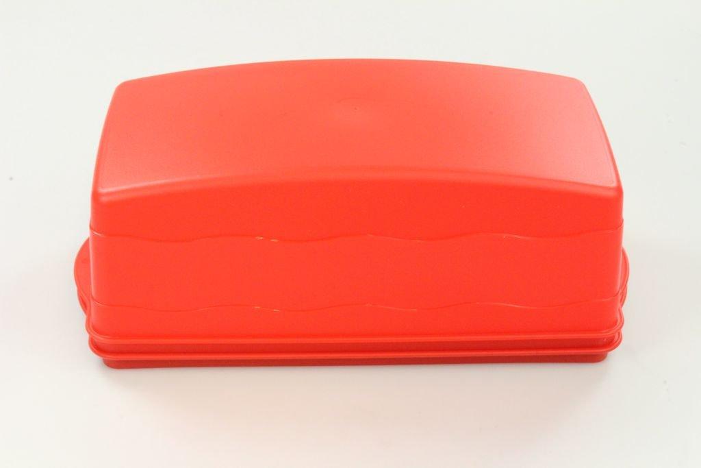 TUPPERWARE Vassoio onda Porta torta Classici rettangolare salmone-rosso