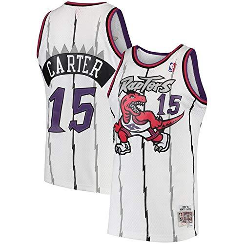 - Colrlel Men's #15_Vince_Carter_Toronto_Raptors_White 1997-98 Hardwood Classics Swingman Jersey