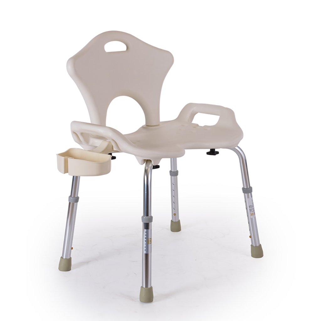 XUEPING バススツール シャワースツール 無効/高齢者/妊娠中の女性/バスシート 自由にスケーラブル パネルを増やす ハイバック 手すりのバスルームのスツール 白 B07DGGLKLQ