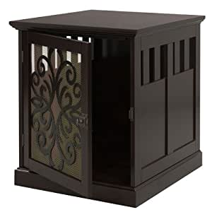 Large Wooden End Table Pet Cage or Crate for Cats or Dogs