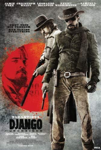 Amazon Com Hotstuff Django Unchained 2012 Movie Poster Jamie Foxx Christoph Waltz Dicaprio 24 X36 Posters Prints