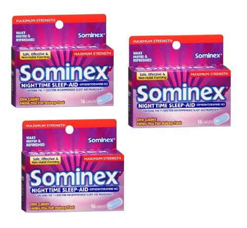 Sominex Maximum Strength Nighttime Sleep Aid: 48 Caplets - Tj