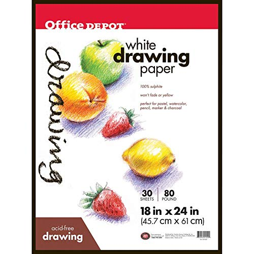 Office Depot Art Drawing Pad, 18in. x 24in, 24 Sheets, 193140-11980