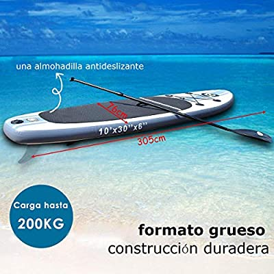COSTWAY Tabla Hinchable Paddle Surf Sup 305 x 76 x15cm Board Stand ...