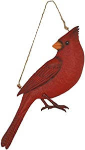burton+BURTON Rustic Red Metal Cardinal Wall Decor