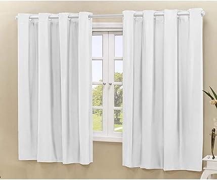 Cortina Blackout PVC corta 100% a luz 2,80 m x 1,60 m Branco