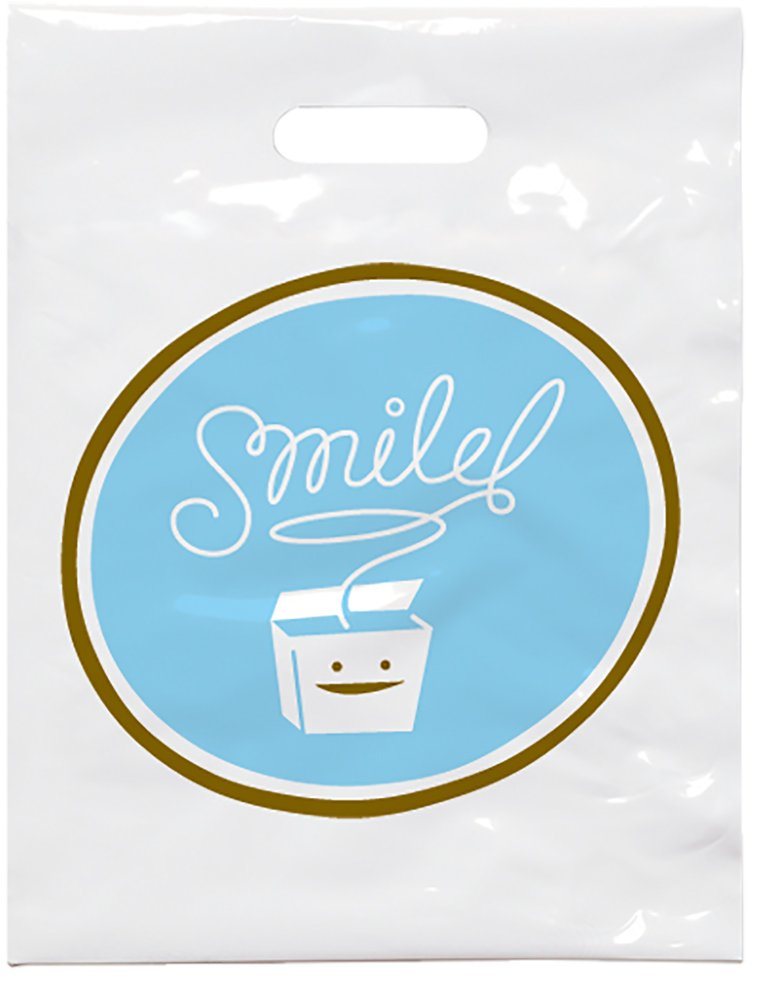 Practicon 1109621 Smile Floss Patient Care Bags, 9'' x 12'' (Pack of 100)