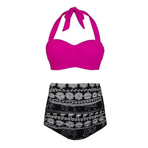 PZZ Halter Vintage Beachwear Swimsuits
