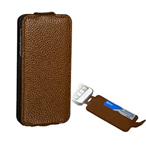 Fits Apple iPhone 5 Hard Plastic Snap on Cover Premium Brown MyJacket Wallet (with card slot) 804 AT&T, Cricket, Sprint, Verizon (does NOT fit Apple iPhone or iPhone 3G/3GS or iPhone 4/4S)