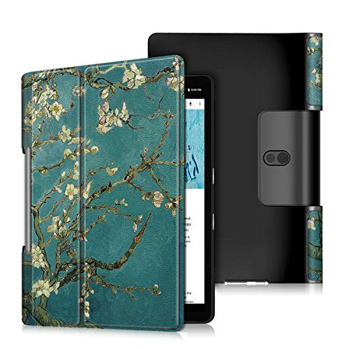 ProElite PU Leather Flip case Cover for Lenovo Yoga Smart Tab 10.1 YT-X705X & YT-X705F Tablet, Flowers