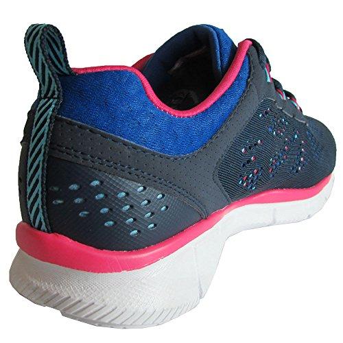 Nieuwe Skechers Dames Equalizer Nieuwe Mijlpaal Sneaker Marine / Blauw 5