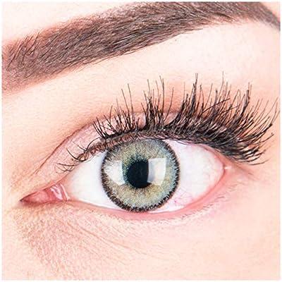 """Rabatt Großbritannien noch eine Chance Sehr stark deckende und natürliche graue Kontaktlinsen SILIKON COMFORT  NEUHEIT farbig """"Mirel Grey"""" + Behälter von GLAMLENS - 1 Paar (2 Stück) -  DIA ..."""