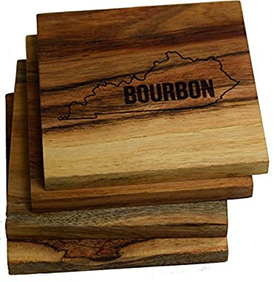 Engraved Louisville, Kentucky Coasters (Set of Four)