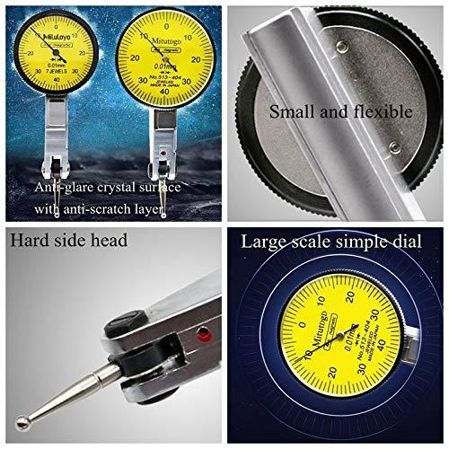 0-0,8mm Indicatore del quadrante magnetico Base del supporto del basamento Lega in alluminio Regolabile Supporto piccolo per comparatore quadrante e comparatore Base magnetica