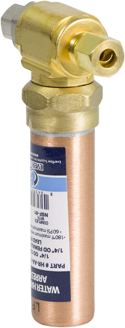 "Everflow Supplies HR-AA-14COMP-NL Compression Tee Hammer Arrestor 1/4"" OD Copper"