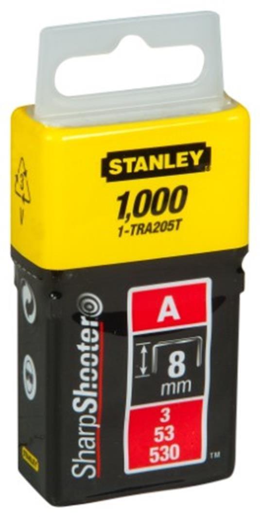 1-TRA206T STANLEY Grapas Tipo A 10 mm-1000 Unidades Set de 1000 Piezas 10 mm
