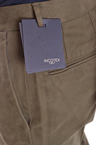 Incotex Homme MCBI154010O Vert Coton Pantalon