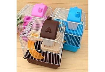 Hamster Gerbil Mouse Cage House 2 Florr Level Water Bottle