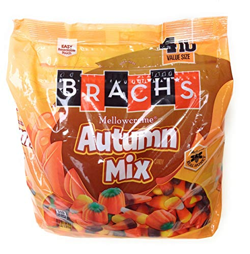 Brachs Halloween Autumn Mix  Mellowcreme Candy 4 Pound Brachs Halloween Party Mix Resealable Pouch Bag -