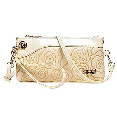 Baofashion Women's Rose Print Clutch Elegant Shoulder Bag