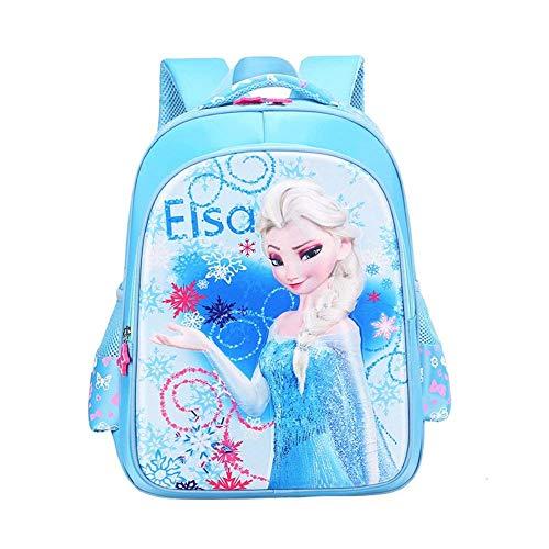 Girls Back to School Frozen Elsa Backpack for School Travel Elsa Blue Age5 ()