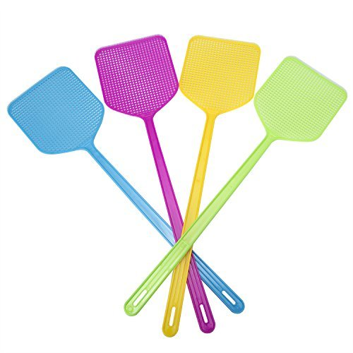 ZOMOY Fly Swatter Manual Swat Pest Control sweet-color 4-pack by ZOMOY