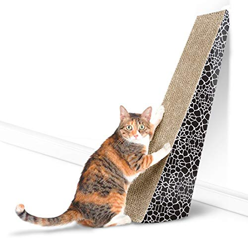 FUKUMARU Pet Vertical Scratching Post Cat Scratcher, Cat Cardboard Furniture Toy with Catnip from FUKUMARU