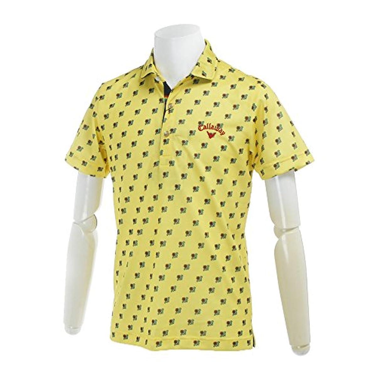 [해외] (캘러웨이 어패럴)CALLAWAY APPAREL< メンズ > 속건반소매 폴로 셔츠 (프린트) 골프 웨어 241-7157521