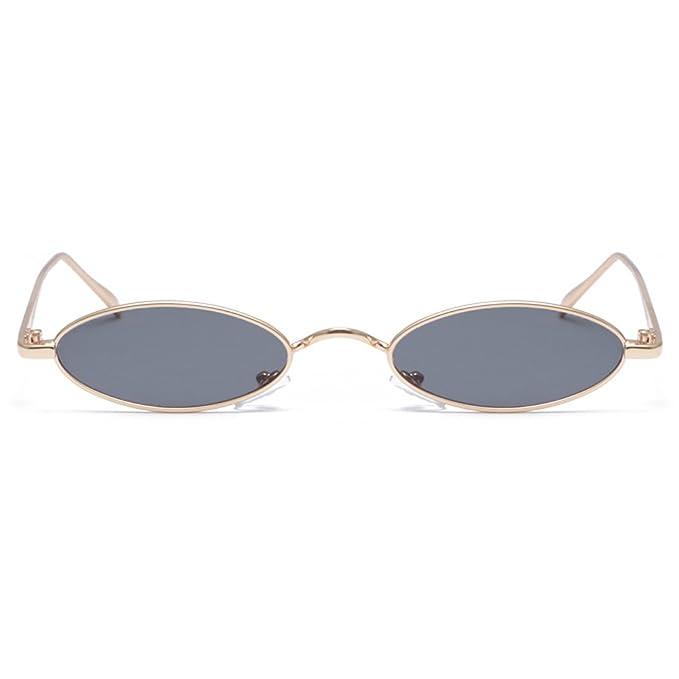 Amazon.com: Gobiger Fashion Small Frame Sunglasses Designer Oval ...